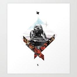 """Outcasts""   collage art Art Print"