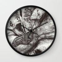 tattoos Wall Clocks featuring Arm Tattoos by Lisa Buchfink