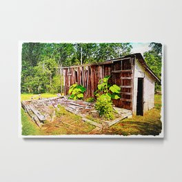 Smokehouse in the Summer Metal Print