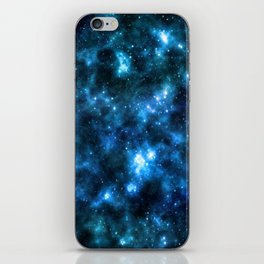 Night sky with stars background iPhone Skin