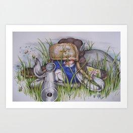 sniper bunny bob Art Print