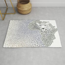 African leopard - Background of the continent map Rug