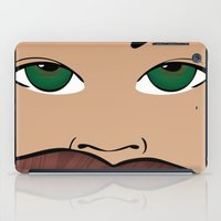roller derby iPad Cases featuring Stache Bash Roller Derby by Stormy Sea Studio