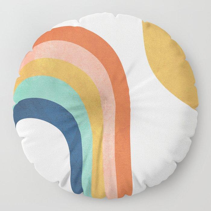 The Sun and a Rainbow Floor Pillow