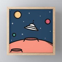 Alien Encounter Framed Mini Art Print