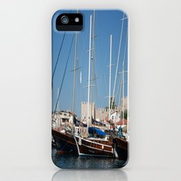 Traditional Turkish Gulets In Marmaris Harbour iPhone Case