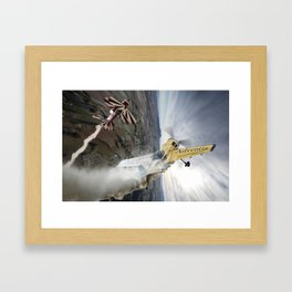 Aerobatic duel Framed Art Print