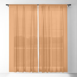 Russet Orange Pantone fashion color trend autumn fall 2018 Sheer Curtain