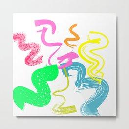 Adobe brushes pop-art decor Metal Print