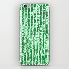 Stockinette Green iPhone Skin