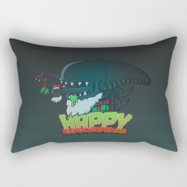 Happy Xenomorphmas Rectangular Pillow