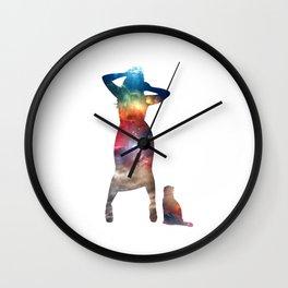 Rainbow Cat Girl Wall Clock