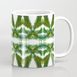 Palm Leaf Kaleidoscope (on white) #2 Coffee Mug