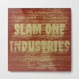 Slam 1 Industries Faded Orange Metal Print