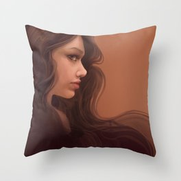 Coffee Brown Throw Pillow