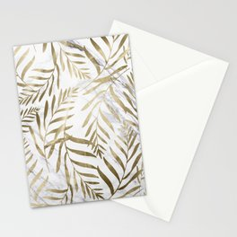 Gold and Marble Leaves Stationery Cards
