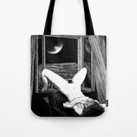 apollonia Tote Bags featuring asc 558 - Le clair de femmes (Moonstruck) by From Apollonia with Love