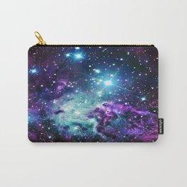Fox Fur Nebula : Purple Teal Galaxy Carry-All Pouch