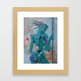 Girl With An AK Framed Art Print