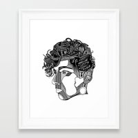 danny ivan Framed Art Prints featuring Danny by Alastair Vanes