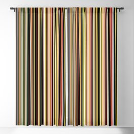 Old Skool Stripes - The Dark Side Blackout Curtain