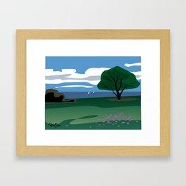 CA coast scene Framed Art Print