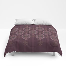 Vintage Burgundy with Blessing Comforters