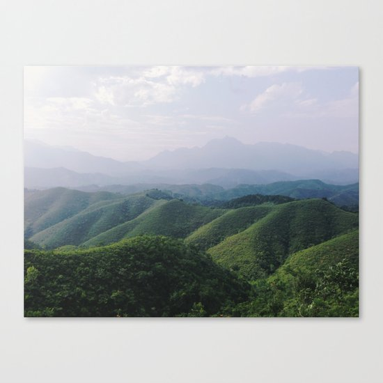 Sunny Mountains Canvas Print