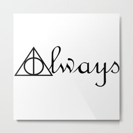 Always Deathly Hallows Symbols Harry Metal Print