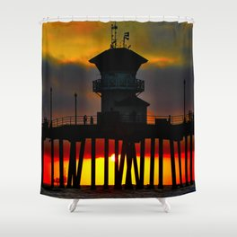 Funky Weather @ the HB Pier Shower Curtain