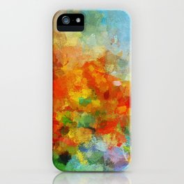 Abstract and Minimalist Landscape Painting iPhone Case
