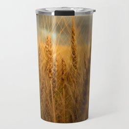 Harvest Time - Golden Wheat in Colorado Field Travel Mug