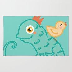 Bird & Chameleon Rug
