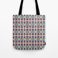 camp Tote Bags featuring Camp by Daniac Design