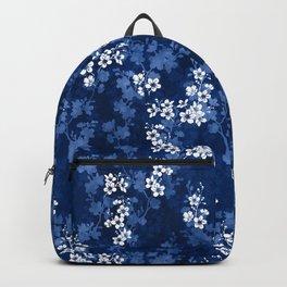 Sakura blossom in deep blue Backpack