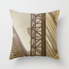 Kinzie Street Railroad Bridge Throw Pillow