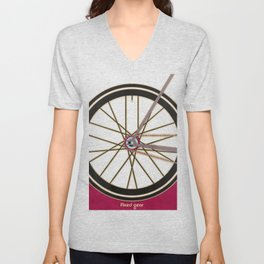 Single Speed Bicycle Unisex V-Neck