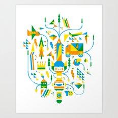 Shape-A-Licious Art Print