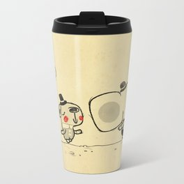 Forest Friends \ Cute Animals March\ elephant cats dogs  Metal Travel Mug