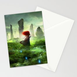 Merida The Brave - Portrait Merida Walking Stationery Cards