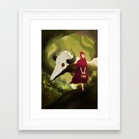 red hood Framed Art Prints featuring red hood by R,oh