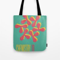 chemistry Tote Bags featuring Chemistry 10 by lynseycreative
