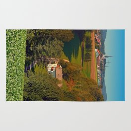 Walking home into the village center | landscape photography Rug