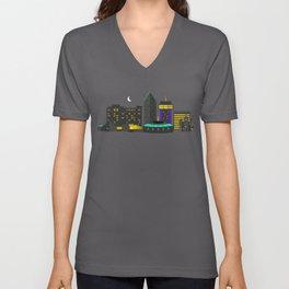 Wichita, Kansas Skyline Unisex V-Neck