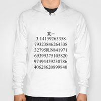 pi Hoodies featuring Pi by Anton Nikulin