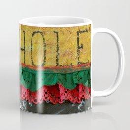 Pie Hole, Apple Pie, Mixed Media Art, by Faye Coffee Mug