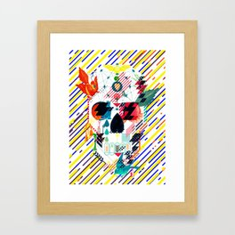 Abstract Skull Framed Art Print
