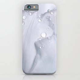White tulip with water drops 27 iPhone Case