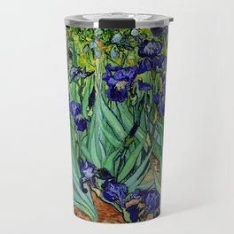 Van Gogh Purple Irises at St. Remy Travel Mug