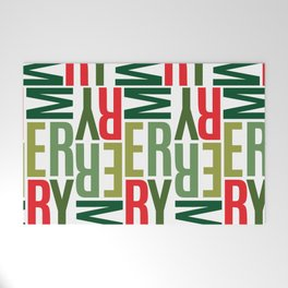 Modern Merry Welcome Mat